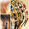 Fashion Women Head Chain Jewelry Metal Rhinestone Headband Head Piece Hair Band