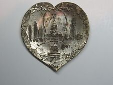 Worlds Fair Made in Occupied Japan Silver Plated Tray #WF30 jbv