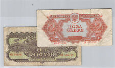 Pologne Lot 2 et 5 Zlotych 1944 Pick 107a & 108