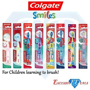 Colgate Smiles Infant Toddler Kids Toothbrush 0-3 Years 4-6 Years 6+ Years Soft
