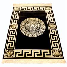 Wohnzimmer Teppich Medusa Mäander Versac schwarz gold carpet 200 x 280 cm