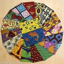 African Cotton Fabric Wax Print Ankara - Fat Quarter Bundles Patchwork Quilting