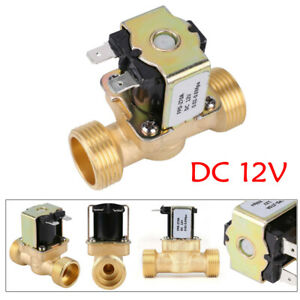 12V Electric Solenoid Valve Water Brass Normally Closed N/C for Water Inlet