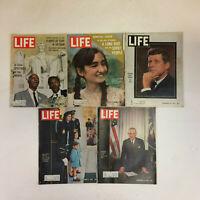 LIFE Magazine 1963 Lot of 5 MLK Washington March- JFK Death- LBJ- Vietnam