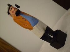 """*Sea Captain w.Pipe* Hand Carved & Painted Wood Statue 8""""Tall ~American Folk Art"""