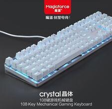 Magicforce Crystal 108 keys Gateron Brown Mechanical Keyboards White LED