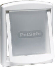 NEW Pet Door Dog Cat Flap Medium 2 Way Lockable Entrance White Gate Easy Fitting