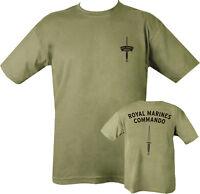 Military ROYAL MARINE COMMANDO TSHIRT GREEN 100% COTTON