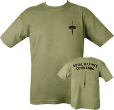 MILITARY Marina Real Commando Camiseta verde 100%Algodón