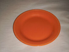 """VINTAGE EDWIN KNOWLES SEMI VITREOUS 9.25"""" TOTALLY ORANGE CHINA DINNER PLATE 41-6"""