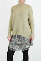 Womens Urban Outfitter Jumper Green Chunky Knit Cosy Winter Pullover Sweater