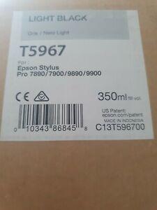 Original Epson T5967 Light Black Ink Cartridge 350ml