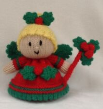 KNITTING PATTERN - Holly the Christmas fairy orange cover or 15 cms toy