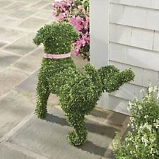 Peeing Dog Topiary Lifting Leg Whimsical Garden Statue Sculpture Yard Figurine