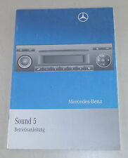 Manuel Mercedes Benz Radio SOUND 5 Stand 02/2009