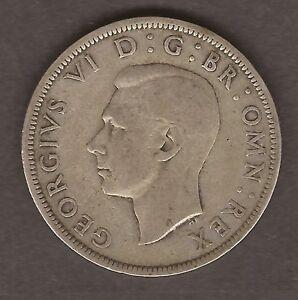 1944 SILVER HALF CROWN GEORGE V GB COIN