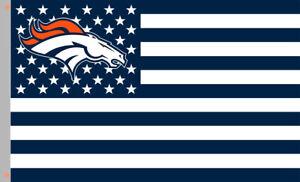 Denver Broncos Star & Strip Football Memorable Flag 90x150cm 3x5ft Best banner