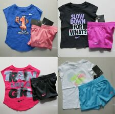 New listing Nike Girls 2T or 3T ~ 8pc Summer Mesh Shorts & T-Shirt  Adorable NEW Purple