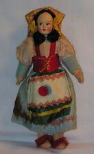 "Vintage 1950s Magis Roma Italian Costume Cloth Souvenir Doll 7"" Tall"