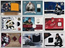 Game Used Jersey Cards Choose From List SP Numbered Low Print NHL Hockey LOOK