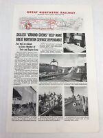 Great Northern Railway Vtg 1944 Print Ad Art Trains