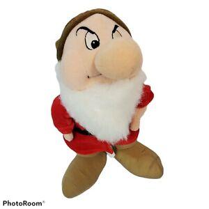 Grumpy Dwarf Elf Disney Store Snow White 7 Dwarfs Stuffed Plush Beanie