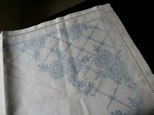 """VINTAGE UNBLEACHED IRISH LINEN TRAY CLOTH PRINTED READY FOR EMBROIDERY~20"""" x 13"""""""