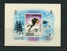 Sharjah  1968  #MB31  olympics speed skating  sheet   MNH K048