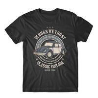 In Bugs We Trust T-Shirt Classic VW Bug Shirt 100% Cotton Premium Tee NEW
