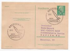 1962 GERMANY Cover DRESDEN PHILATELIC EXHIBITION Stationery Postcard SPACE