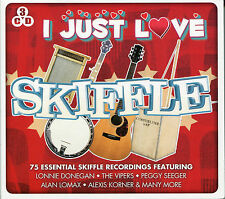I JUST LOVE SKIFFLE 3 CD BOX SET - LONNIE DONEGAN, THE VIPERS, & MANY MORE