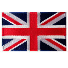 VEGASBEE® GREAT BRITAIN FLAG UNION JACK UNITED KINGDOM EMBROIDERED PATCH VELCRO®