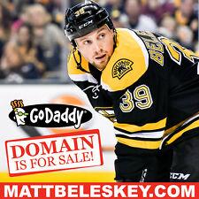 MATT BELESKEY .COM - Boston Bruins - Hockey - NHL - Domain Name - GoDaddy
