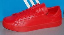 MENS ADIDAS COURTVANTAGE ADICOLOR in colors RED / RED / RED SIZE 9.5