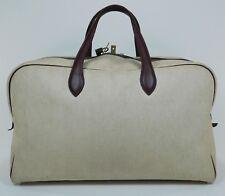 Vintage HERMES Victoria 50 Canvas Leather Trim Duffle Bag Suitcase Travel 3380