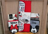 Disney Mickey & Minnie Mouse Dish Drying Mat and Oven Mitts Combo ❤️ NEW!!!