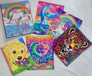 Lisa Frank 6 pc Set Binder Notebook 4 Folders Dolphin Leopard Puppy Unicorn 30th