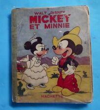 Mickey et Minnie 1950 illustration de Walt Disney