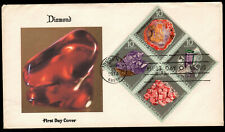 U.S. 1974 - MINERALS (Block of 4 on FDC) lot 8