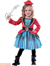 Girls Pirate Costume Childs Anchor Cutie Fancy Dress Kids Caribbean Outfit