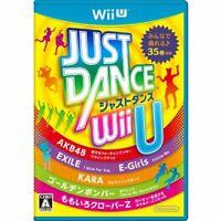 USED Nintendo Wii U JUST DANCE R 21900 JAPAN IMPORT