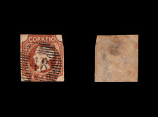 1853 Portugal Azores D. Maria II 5r #1 USED stamp. Space Filler. 48 Angra.