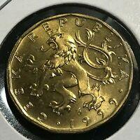 1999 CZECHOSLOVAKIA 20 KORUN BRILLIANT UNCIRCULATED COIN