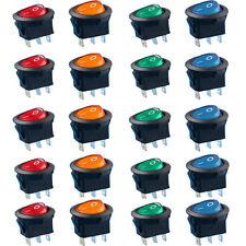 20pcs On/Off 2 Pin Interrupteur Switch à Bascule 15A 250V Voiture LED Lumineux