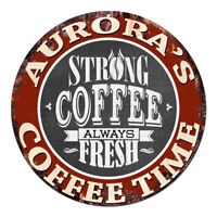 CWCT-0534 AURORA'S COFFEE TIME Sign Birthday Housewarming Christmas Gift
