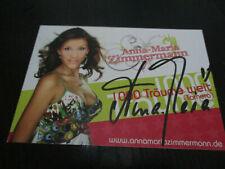 Anna Maria Zimmermann TV Musik Film original signierte Autogrammkarte