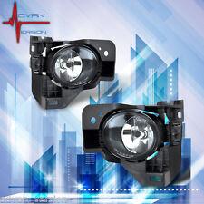 Fit 2009-2014 Nissan Maxima Bumper Fog Lights Lamp+Bulbs+Switch+Harness Set Pair