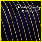 18K 18CT YELLOW GOLD FILLED 1MM SNAKE ROPE BOX CURB LINK NECKLACE MEN LADY CHAIN