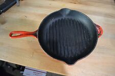 France LE CREUSET #26 Red / Orange Cast Iron Frying Pan
