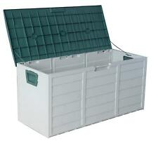 Outdoor Garden Plastic Storage Utility kids Toys Chest Cushion Shed Box 290L